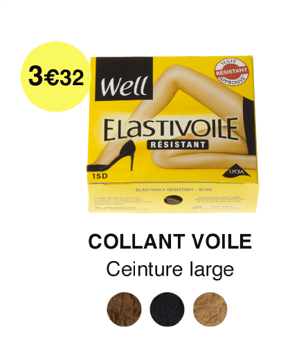 Collant voile WELL 3,32€